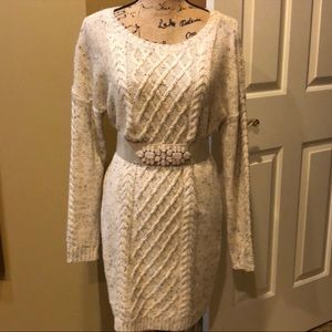 Dresses & Skirts - EUC Marled Sweater Dress-Belt Not Included.